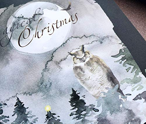 Multipack 16 Christmas Cards with Envelopes - Handmade Enchanted Forest Christmas Xmas Cards