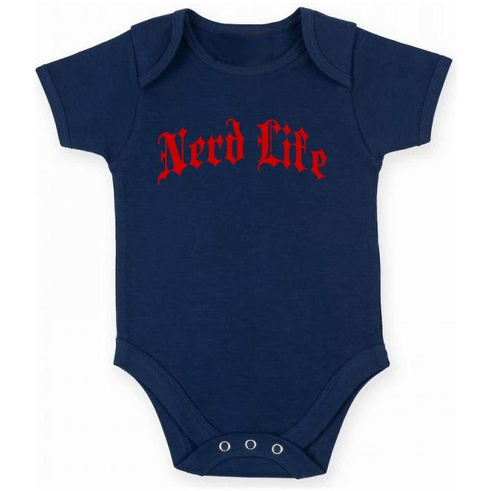 T-Shirtshock Body Neonato Blu Navy FUN2593 Nerd Life Gothic Thug