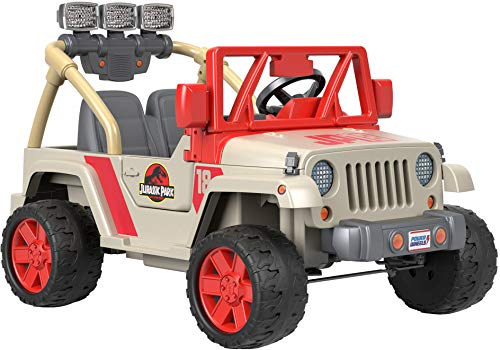 Power Wheels Jurassic World, Jeep Wrangler (Jurassic Park Car)