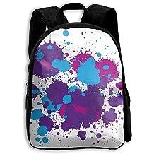 Grunge Splatter Kid Boys Girls Toddler Pre School Backpack Bags Lightweight