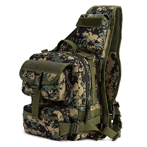 Backpack Paintball Bag - Protector Plus Tactical Military Daypack Sling Chest Pack Bag Molle Laptop Backpack Large Shoulder Bag Crossbody Duty Gear for Hunting Camping Trekking (Jungle Digital)