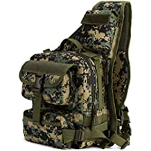 Protector Plus Tactical Military Daypack Sling Chest Pack Bag Molle Laptop Backpack Large Shoulder Bag Crossbody Duty Gear For Hunting Camping Trekking