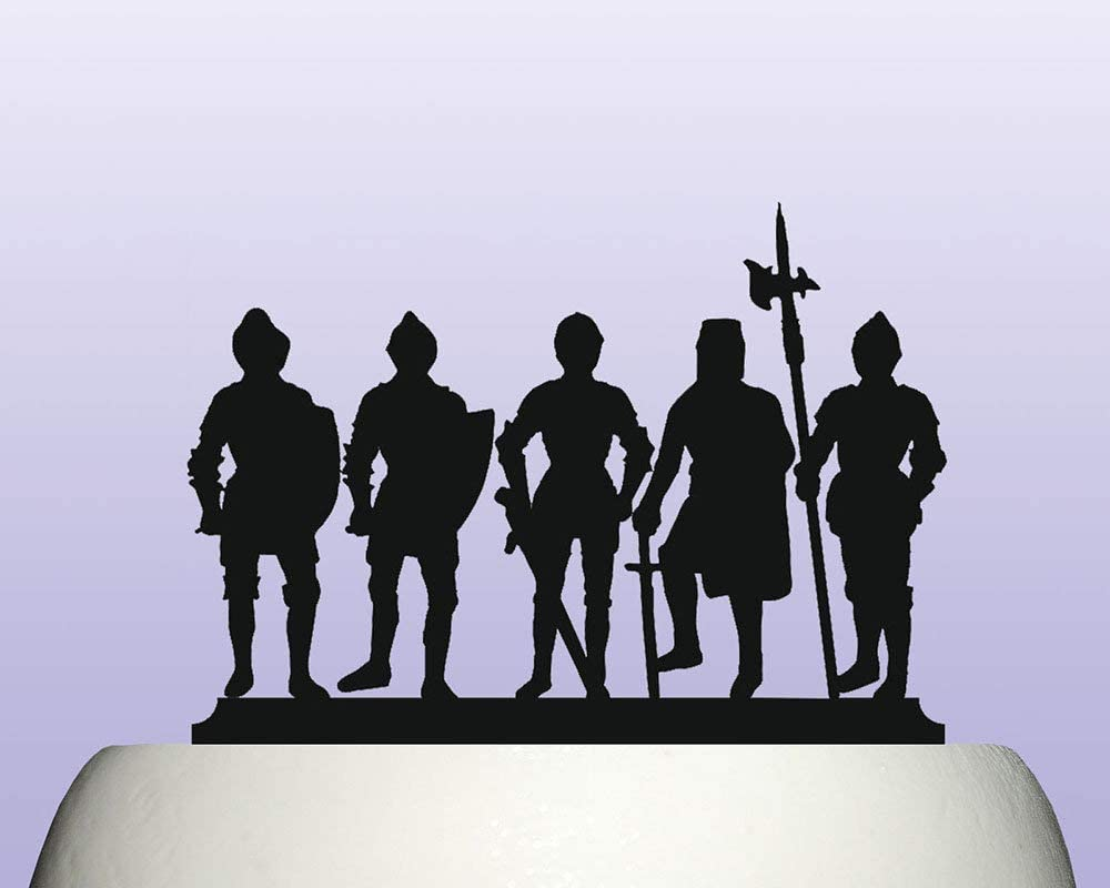 Awesome Acrylic Medieval Middle Ages English Knights Birthday Cake Topper Funny Birthday Cards Online Overcheapnameinfo