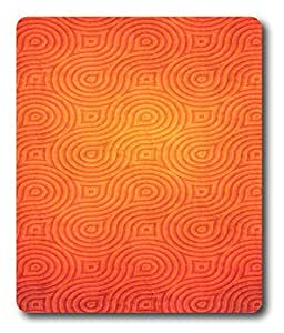 aluminium mouse pad Pattern Orange Cool PC Custom Mouse Pads / Mouse Mats Case Cover