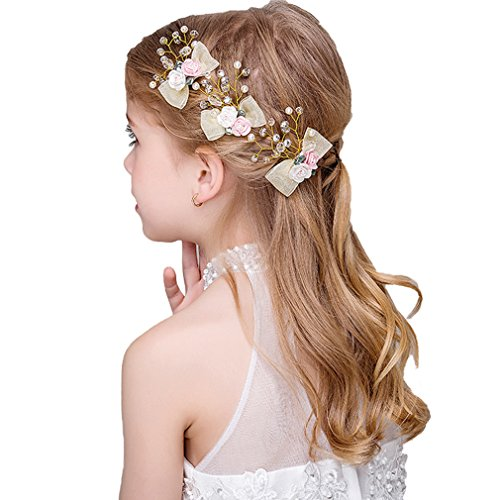 3 Packs Headdress Flowers Beautiful Girls Hair Accessories Hair Jewelry Party Wedding (JZZ)