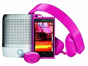 Nokia Lumia 800 Unlocked Phone With - Purity HD Headset by Monster & Nokia Play 360 Portable Wireless Speaker & Nokia Luna Bluetooth Headset  (Magenta)