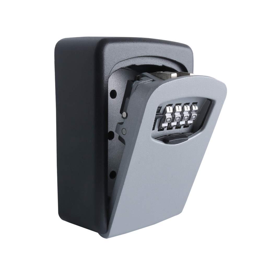 Key Storage Lock Box 4-Digit Combination Code Storage Case Wall Mounted