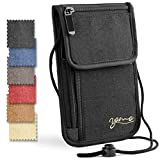 Passport Holder- by YOMO. RFID Safe. The Classic Neck Travel Wallet.