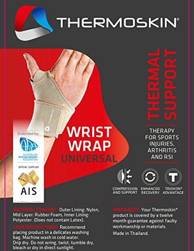 Thermoskin Thermal Universal Wrist Wrap, Beige, Smallall/Mediumium, Beige, 5 Ounce