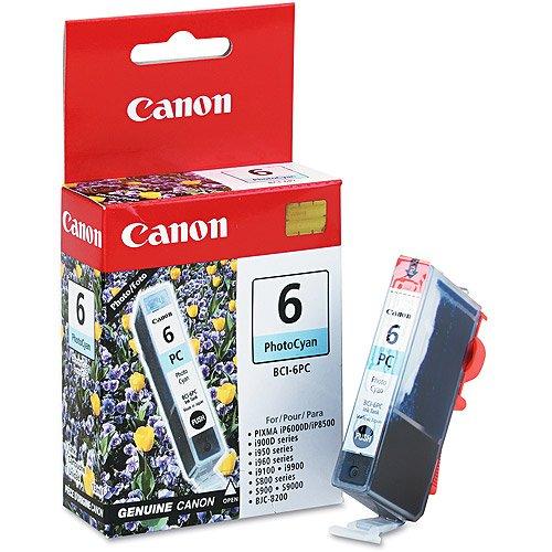 Canon BCI-6PC Photo Cyan Ink Cartridge (4709A003) (Cyan Cartridge 6 Bci Printer)