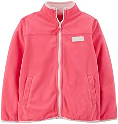 Carter\'s Baby Girls\' Microfleece Jacket (Baby) - Coral - 3 Months