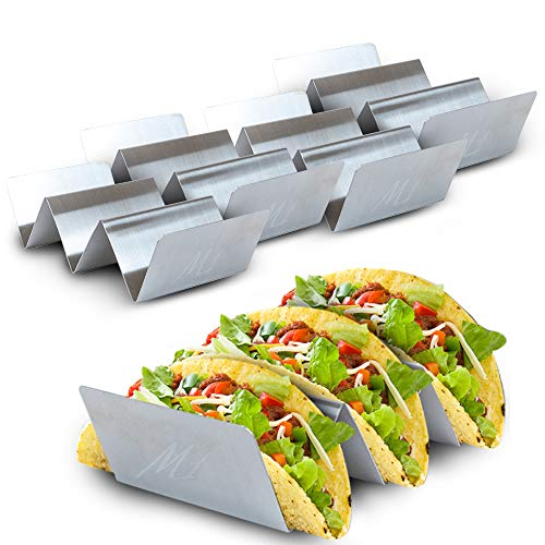Stand Up n Stuff Taco Holder 5 Pack by East World - Taco Stand/Tortilla Holder for 15 Tacos! Dishwasher Safe, Heat Resistant Taco Plates for Home or Taco Truck – Taco Holders Stainless Steel