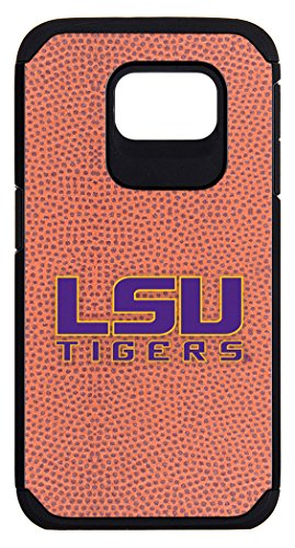 LSU Tigers Classic Football Pebble Grain Feel Samsung Galaxy S6 Case,One Size,Brown