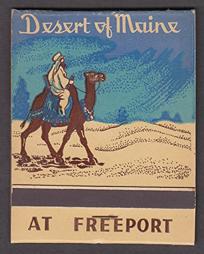 Matchbook Stick (Desert of Maine at Freeport jumbo matchbook with pictorial sticks ca 1940s)
