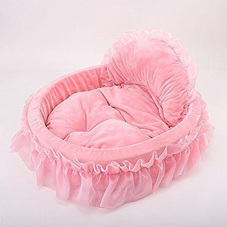 Pet Online Cama Pet Boutique Cute Four Seasons Disponible cálida óvalo Rosa de Perro y Gato