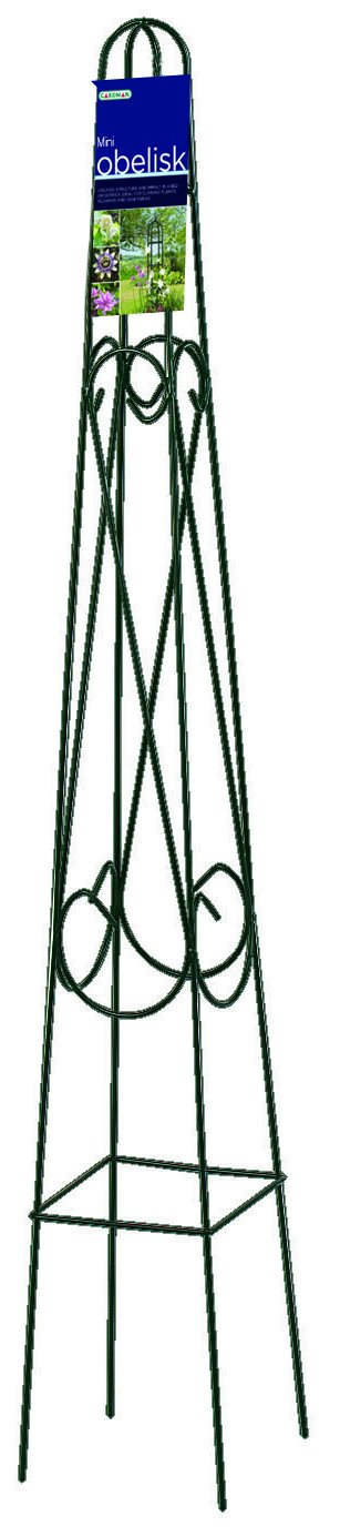 Gardman R504 Mini Pot Obelisk, 7'' wide x 4' High by Gardman