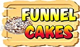 12' x 20' Wooden background Funnel Cakes food truck restaurant cafe vinyl decal window or wall mural