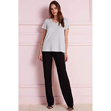 Calça Pantalona Zíper  Amazon.com.br  Amazon Moda 742d97f068c