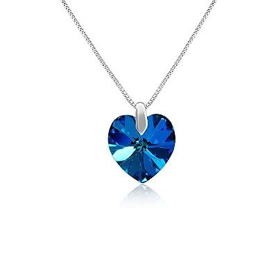 Buy mahi rhodium plated blue heart swarovski element love for my mahi rhodium plated blue heart swarovski element love for my valentine pendant ps1194207rblu aloadofball Images