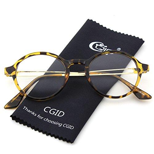 vintages à Lunettes inspirées Tortoise UV400 CGID circulaires classiques verres transparents nerd CN94 zZacqwp