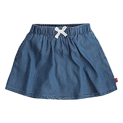 Levi's Girls' Toddler Lightweight Skirt, Clean Medium, 4T (Denim 4t Skirt)