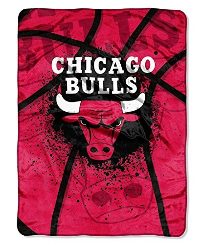 Northwest Chicago Bulls Official NBA 60'' x 80'' Royal Plush Raschel by Throw Blanket by Northwest