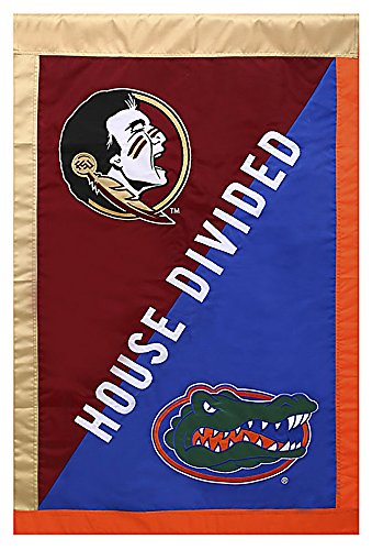Evergreen NCAA Rival Schools House Divided Flag (Florida vs. Florida State)