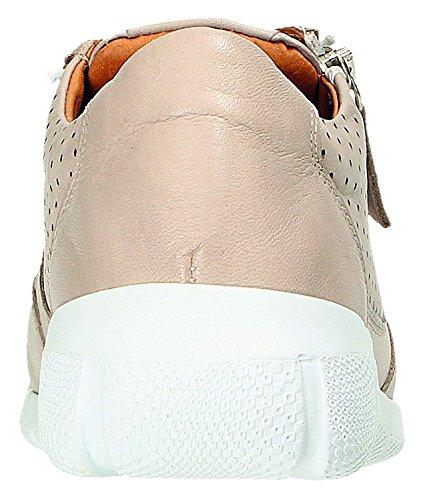 Zapatos Para Mujer Gris Miccos Plateado Cordones De FCZCpq