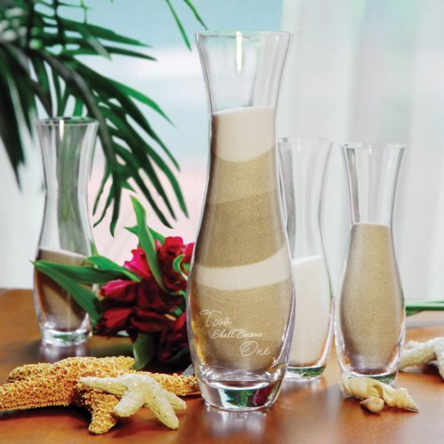 Become Unity One Shall Candle (Wedding Favors 4pc. Two Shall Become One Sand Ceremony Unity Set)