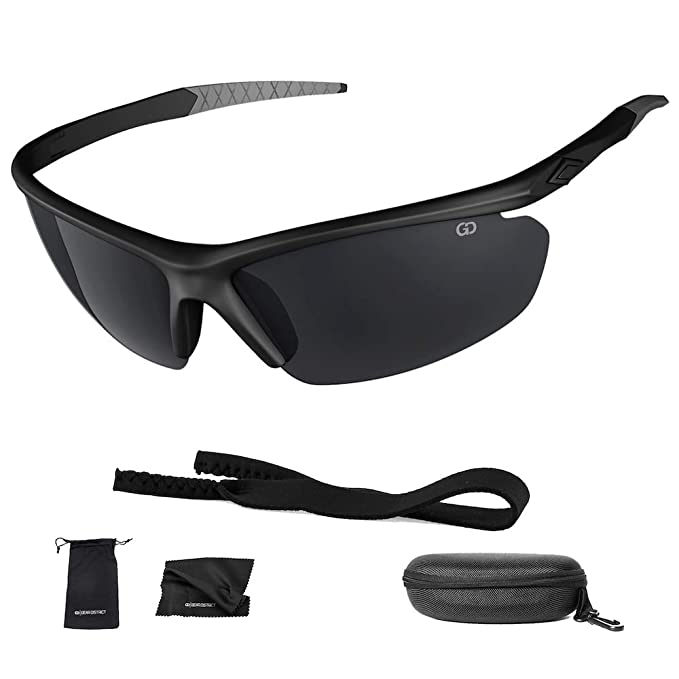 8c46616f1435 Polarized UV400 Sport Sunglasses Anti-Fog Ideal for Driving or Sports  Activity (Black