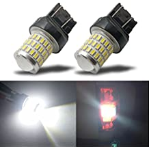 iBrightstar Newest 9-30V Super Bright Low Power 7440 7443 T20 LED Bulbs with Projector Replacement for Back Up Reverse Lights or Tail Brake Lights,Xenon White