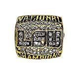 LOUISIANA STATE UNIVERSITY (LSU Tigers) 2003 BCS NATIONAL CHAMPIONS Rare & Collectible Replica College Football Gold NCAA Championship Ring with Cherrywood Display Box