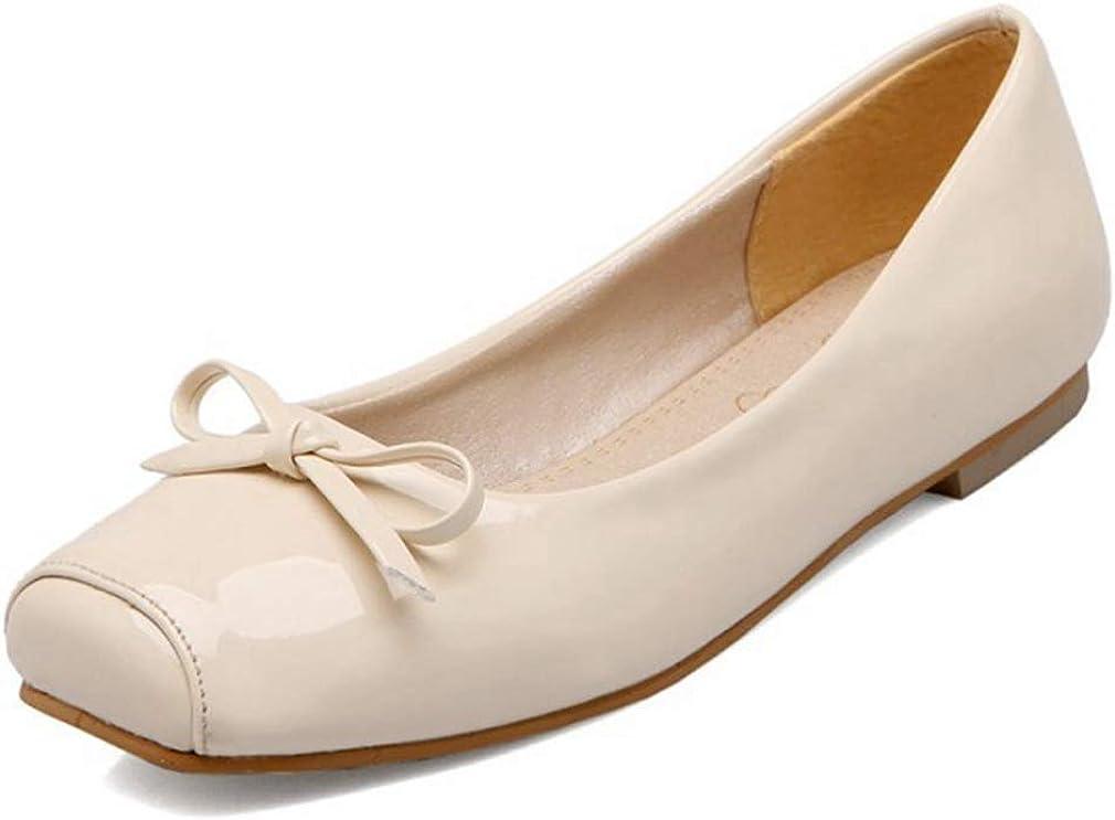 CYBLING Womens Cute Square Toe Slip On