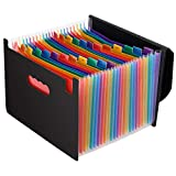 Magicfly Expandable File Folder with Lid, 24 Pocket