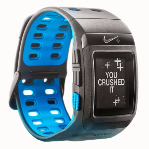 Nike+ SportWatch GPS Powered by TomTom (Anthracite/Blue Glow) by NIKE