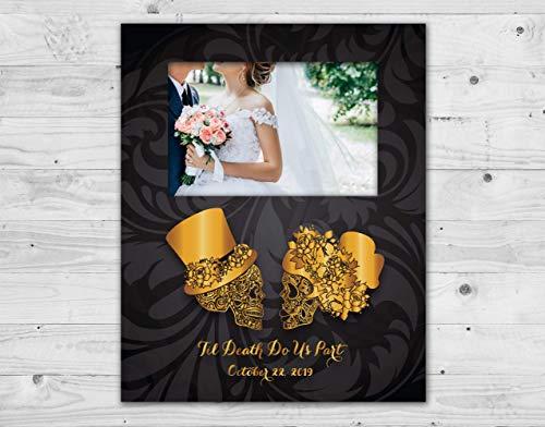 Sugar Skull wedding set, Sugar skull photo frame, Wedding photo frame, Photo frame, Picture frame, Wedding gift, Day of the dead, Dia de los muertos, Skull -