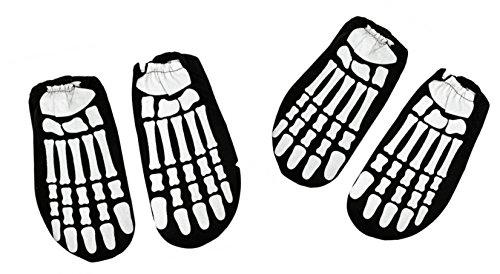 Children's Glow In The Dark Skeleton Feet (2 Pair) Halloween