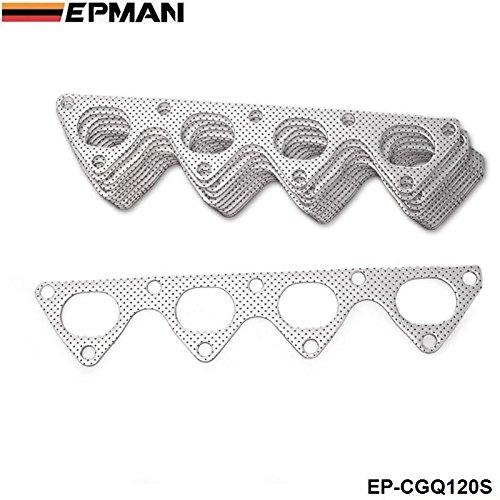 EPMAN -10PCS/LOT For Honda Integra Civic Crx B16 B16A B18 Aluminum Graphite Exhaust Manifold Header Gasket EP-CGQ120S