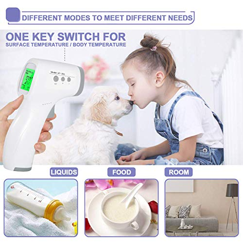 Digital Infrared Forehead Temperature Gun, Non-Contact for Baby Kids Child and Adults, No Touch Forehead Gun with Celsius Fahrenheit and LCD Display