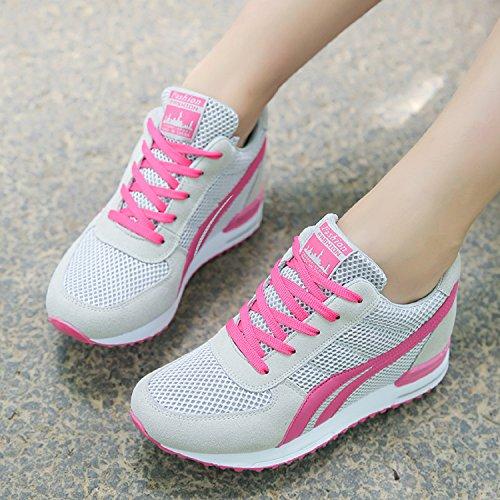 AONEGOLD/® Baskets Compens/ées Femmes Chaussure de Sport Gym Fitness Sneakers Basses Compens/ées 7 cm Jogging Voyage Respirantes