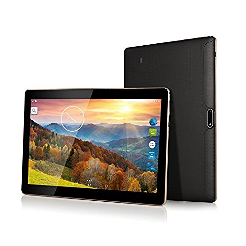 Batai 10 inch tablet Android Octa Core Tablet with Two Sim Card Slots Unlocked 3G Phone Call Phablet 4GB RAM 64GB ROM Tablet PC Built in Wifi and Camera GPS (Black Keyboard Gps)