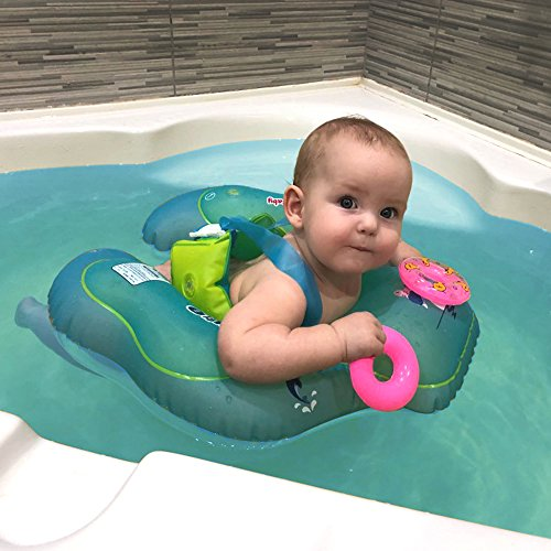 HANTAJANSS Baby Float Inflatable Swimming Ring Pool Raft Adorable Toddler Flotation Device Swimming Trainer 1-2 Years Infant..