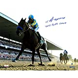 Steiner Sports Victor Espinoza Signed 2015 Belmont Stakes Photo with Triple Crown, 16'' x 20''