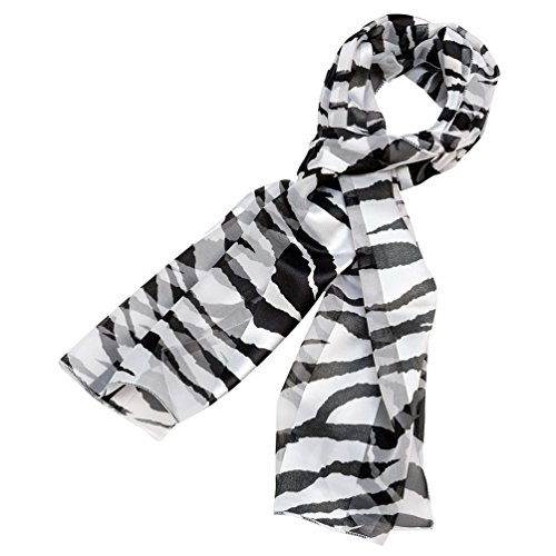 Zebra Scarf Animal Print Silk Feel Polyester Scarf
