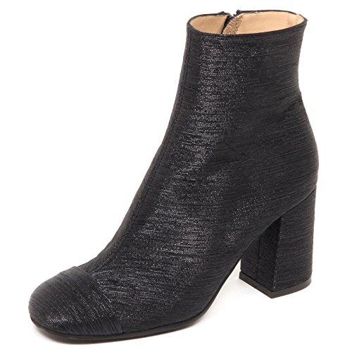 Tissue Metallic Maliparmi Tronchetto E6510 Woman Nero Shoe Scarpe Boot Black Donna YwZgtOxZ