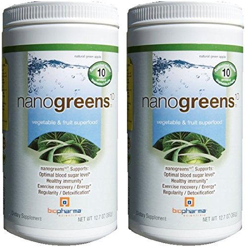 Biopharma Scientific Nanogreens 10, 12.7-ounce (2 Pack) by Biopharma Scientific