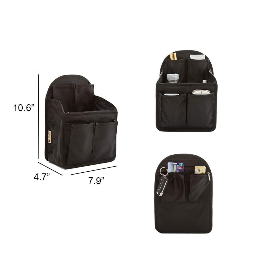 Ultra-light Backpack Insert Organizer, 13 pockets Nylon Organizer Insert for Backpack