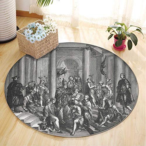 Rug of Constantine The Great by Pope Sylvester I Rug,052872 Christmas Rugs for Indoors,4 ft (Constantine Pope And Christmas)