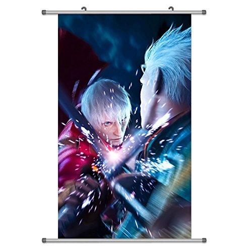 A Wide Variety of Devil May Cry Game Characters Wall Scroll