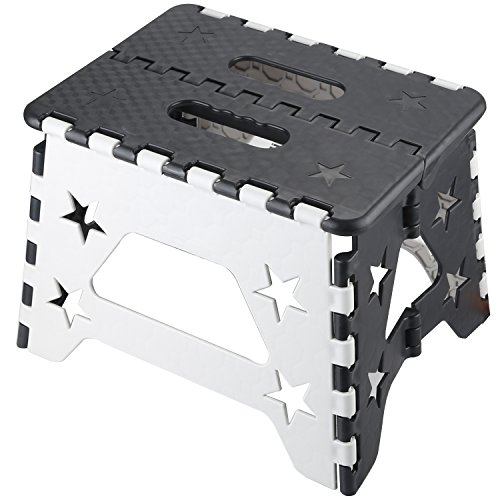 NORZERO Step Stool Folding Step Stool Super Strong Foldable Step Stool for Adults and Kids, Non Slip Kitchen Stepping, Garden Step Stool, Holds up to 260 lbs by NORZERO